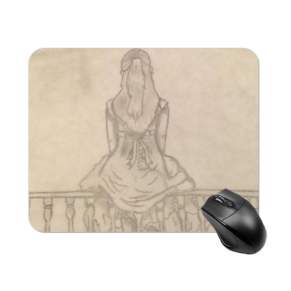"Melainie - ""Shadow of Secrets"" - Square Mouse Pad , Non-Slip Base for Computer, Laptop, Home, Office 7.9""X9.8"""