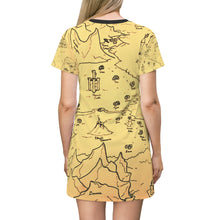 Load image into Gallery viewer, TCoE - Trindavin Map - All Over Print T-Shirt Dress