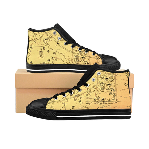 TCoE - Trindavin Map - Ladies High-top Sneakers