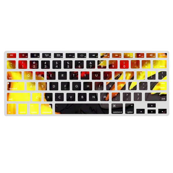 "Dragon Torrick - ""Flame"" - Dust-Proof Keyboard Cover for Macbook 13.3"" Protector Sticker Film"