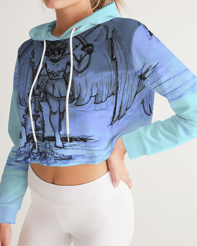 "TSoaGa - Cythia - ""Into the Abyss"" - Ladies Cropped Hoodie"