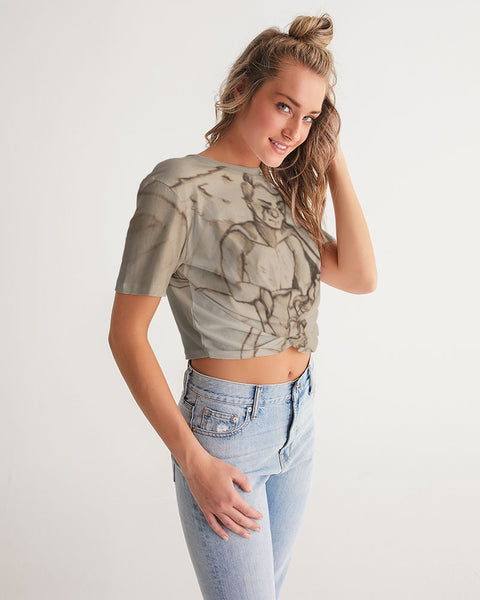 "TCoE - ""Live and Let Die"" - Ladies Twist-Front Cropped Tee"