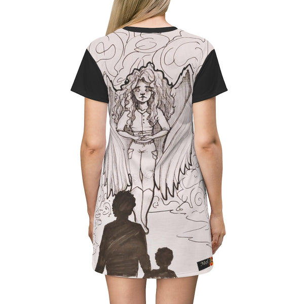 "TSoaGA: ""Dark Angel Cythia"" - All Over Print T-Shirt Dress"