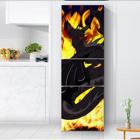 "Dragon Torrick - ""Flame"" - Refrigerator Sticker"