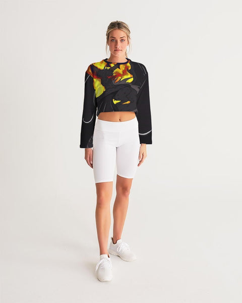 "Dragon Torrick - ""Flame"" -  Ladies Cropped Sweatshirt"