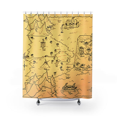 TCoE - Trindavin Map - West - Shower Curtains