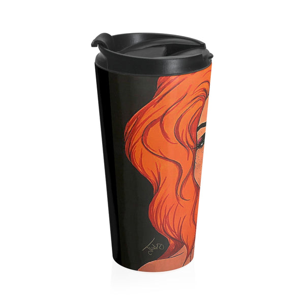 "Cythia - ""Fire"" - Stainless Steel Travel Mug"