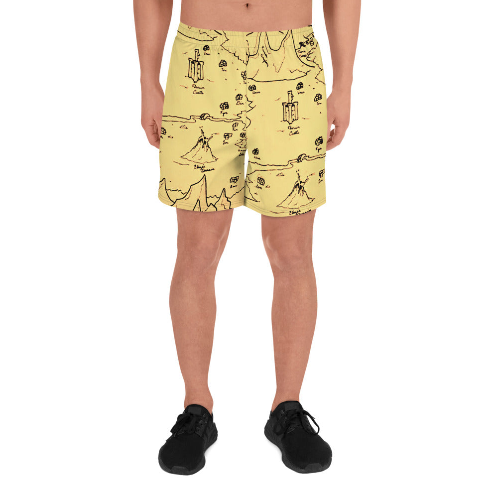 TCoE - Trindavin Map - Men's Athletic Long Shorts