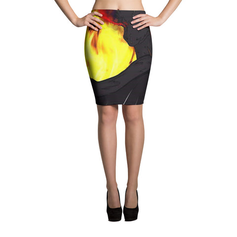 "Dragon Torrick - ""Flame"" - Pencil Skirt"