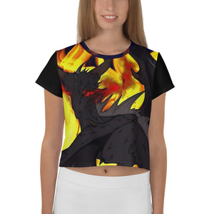 "Dragon Torrick - ""Flame"" - All-Over Print Crop Tee"