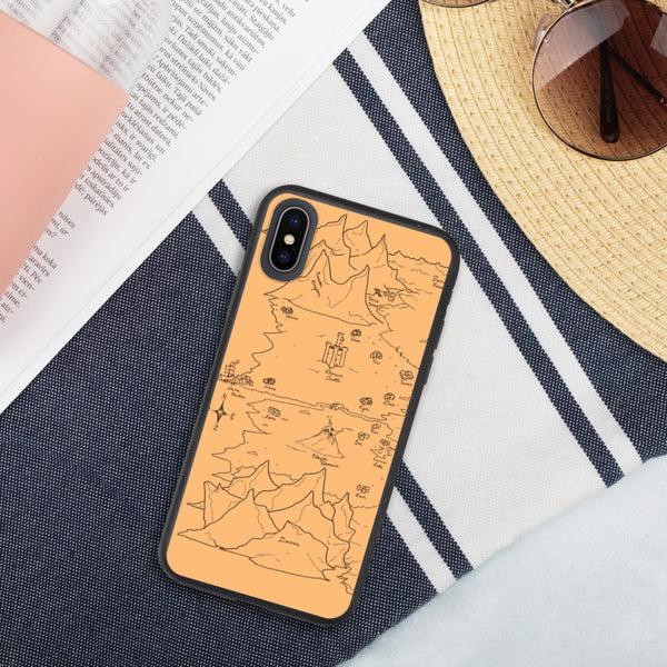 TCoE - Trindavin Map 'parchment' - Biodegradable phone case