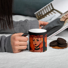 "Load image into Gallery viewer, TCoE - Cythia - ""Fire"" - Matte Black Magic Mug"