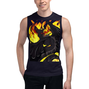 "Dragon Torrick - ""Flame"" - Unisex Muscle Shirt"