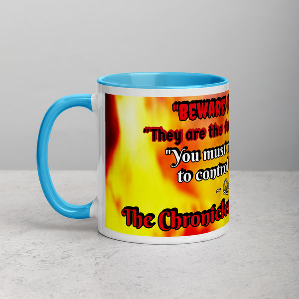 "TCoE: Book Two - Queen Laythia Quote - ""Beware of your fears"" - Mug with Color Inside"