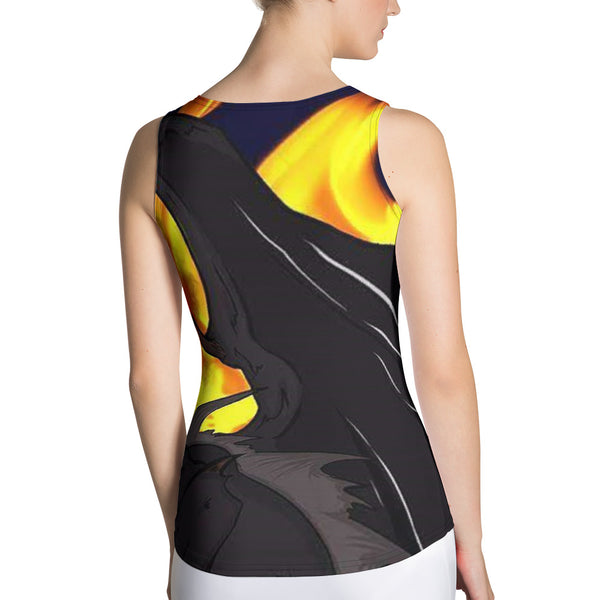 "Dragon Torrick - ""Flame"" - Sublimation Cut & Sew Ladies Tank Top"