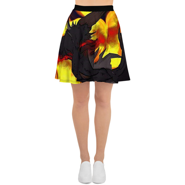 "Dragon Torrick - ""Flame"" - Skater Skirt"