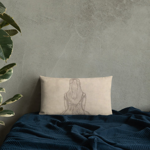 "Melainie - ""Shadow of Secrets"" - Premium Pillow"
