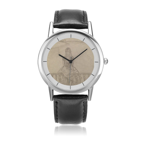"Melainie - ""Shadow of Secrets"" - Unisex Double-Layer Concise Dial Water-Resistant Quartz"