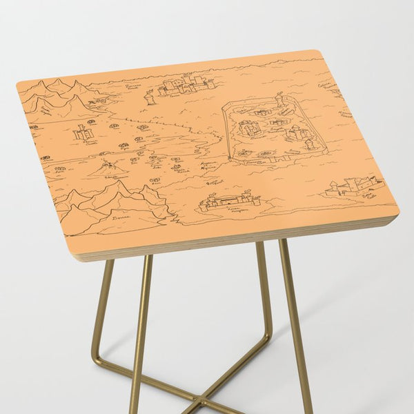 TCoE - Trindavin Map 'parchment' - Side Table