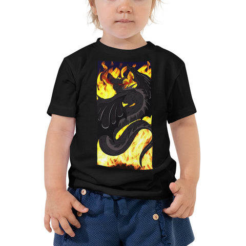 "Dragon Torrick - ""Flame"" - Toddler Short Sleeve Tee"
