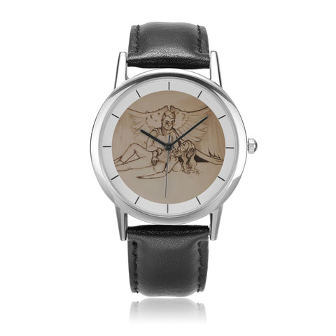 "TCoE - ""Live and Let Die"" - Unisex Double-Layer Concise Dial Water-Resistant Quartz"