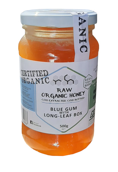 Blue gum and long leaf box honey, raw organic
