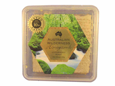 Tasmanian Wilderness Leatherwood Honey Pure Honeycomb, 350grams,