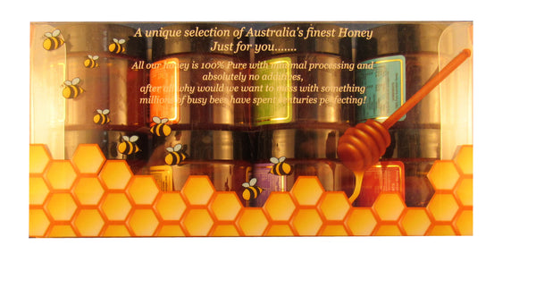 Australian honey gift box selection, 8 * 42gms mini-jars