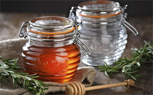 Honey pot set, Kilner, glass, 400ml, with dipper in gift box