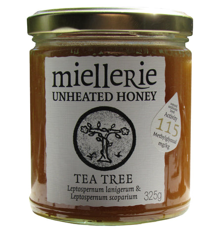 miellerie teatree manuka honey 325gms jar