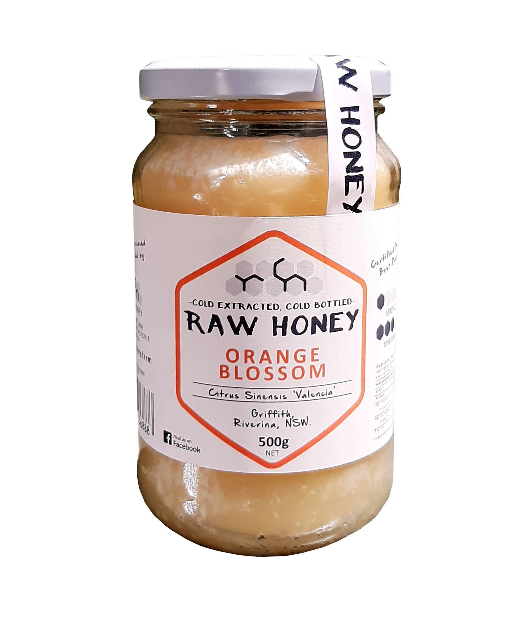 Raw orange blossom honey candied 500gms