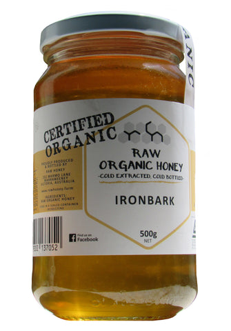 raw organic iron bark honey