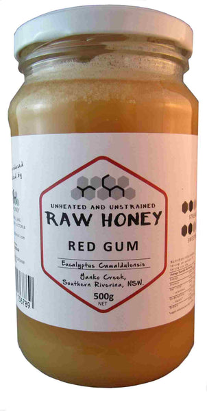 Raw red gum honey naatural candied 500gms