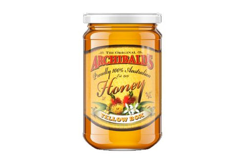 Archibalds yellow box honey 500gms