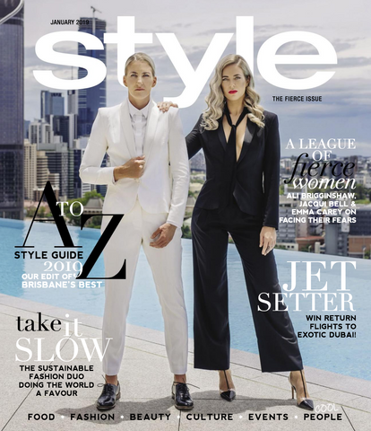 Style Magazine January Edition Front Cover featuring Rachel Elizabeth Interiors & Textiles