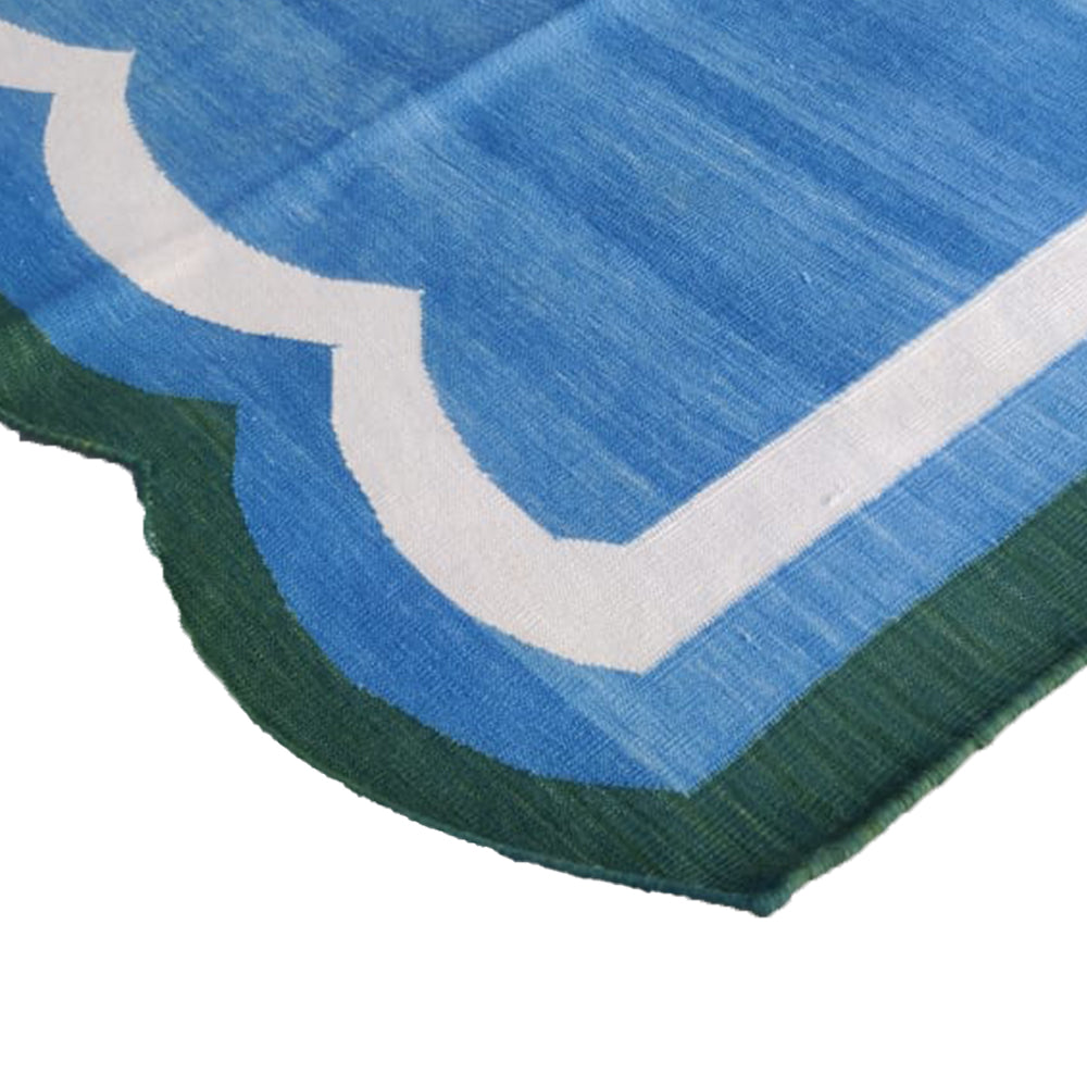 Scallop Rug - Blue / Green
