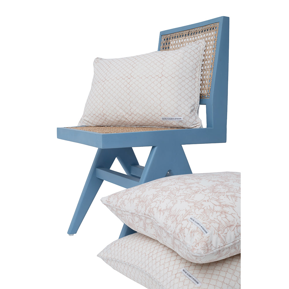 CANE DINING CHAIR - PASTEL BLUE