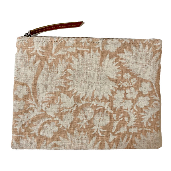 HAND-BLOCK PRINTED LINEN POUCH