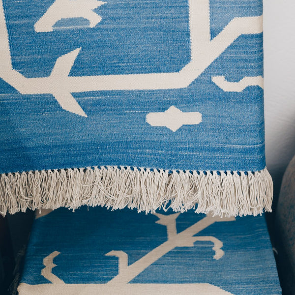 The Big Blue Sky Cotton Woven Rug