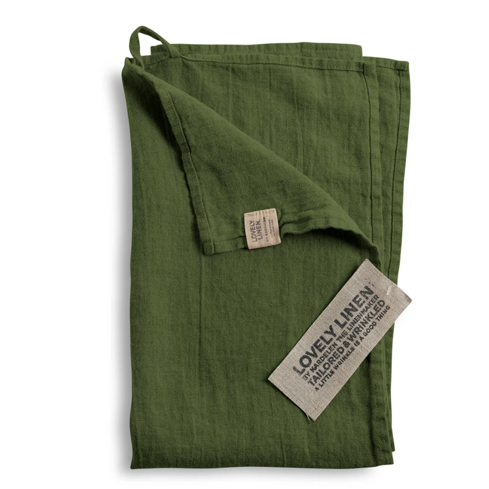 LOVELY LINEN KITCHEN TOWEL - Jeep Green