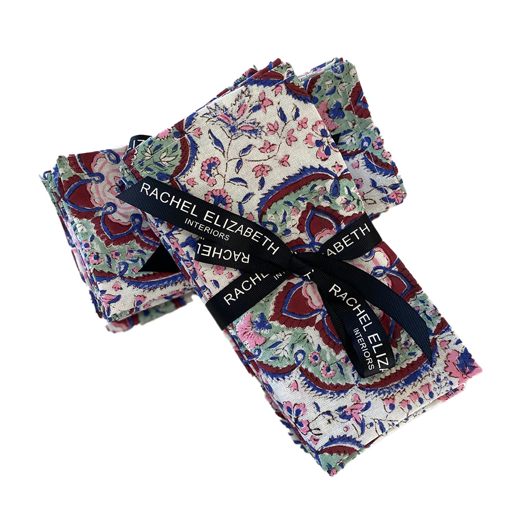 Cotton Napkin Set: Floral Musk