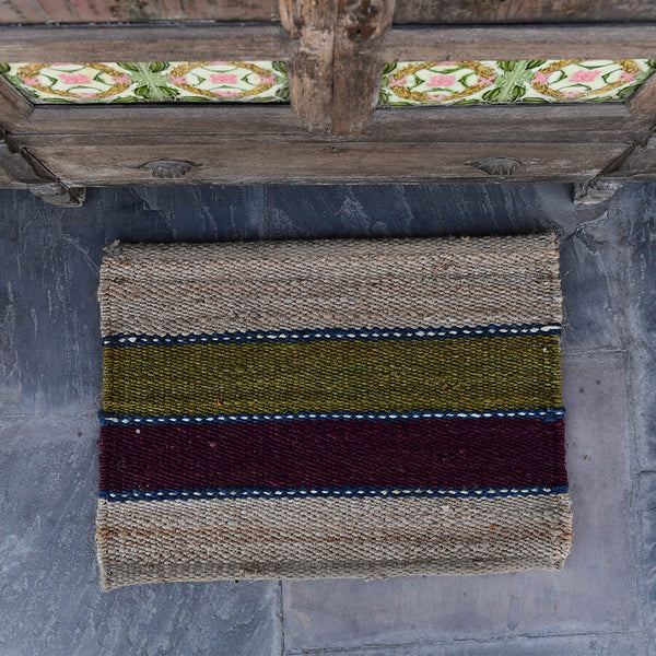 Hand-Woven Jute Doormat - The Nantucket
