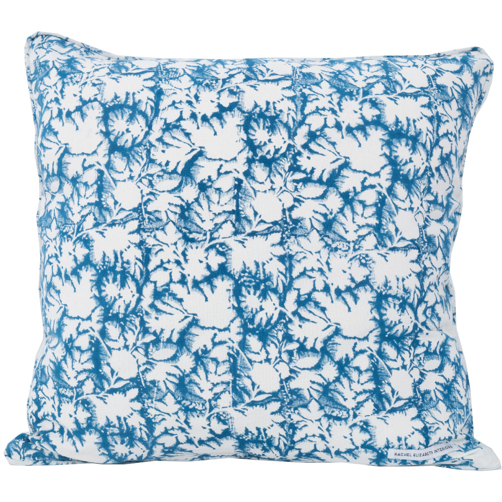 SECRET GARDEN CUSHION - RIVIERA BLUE