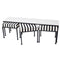 NESTING BENCH WITH BLACK & WHITE DHURRIE UPHOLSTERY
