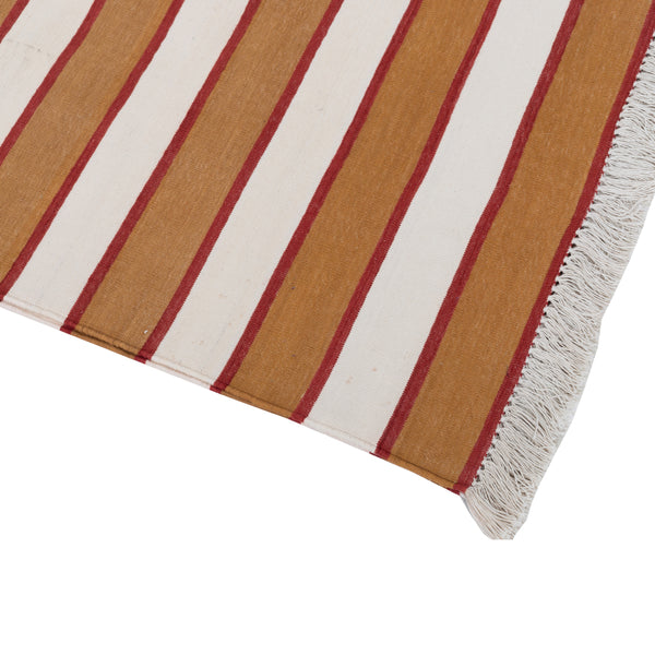 PANJA RUG - RED, BROWN & WHITE