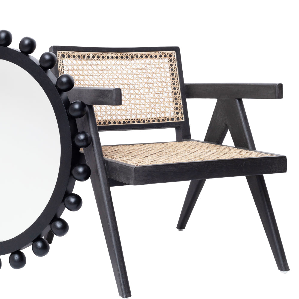 WOODEN BOBBIN MIRROR