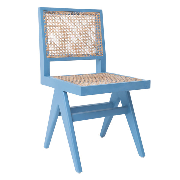 CANE DINING CHAIR - SKY BLUE