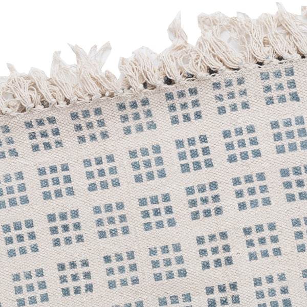 SQUARES RUG - BLUE AND WHITE