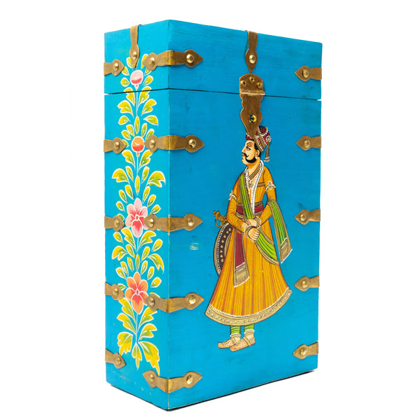 MAHARAJA WINE BOXES - BLUE