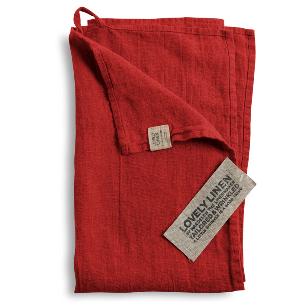 LOVELY LINEN KITCHEN TOWEL - Real Red